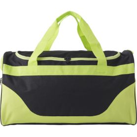 Two-tone sports bag, various compartments with shoulder strap. 51 x 28 x 26 cm