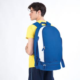 Sport backpack in Nylon 600D with inner bag and shoe rack compartment. 30 x 58 x 27 cm