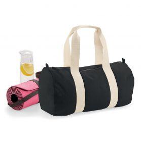 Tubular duffel bag with double handle, Organic Cotton, 50 x 25 x 25 cm