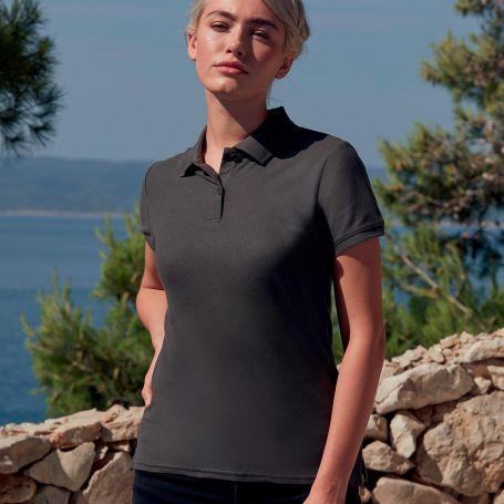 Premium Women's Polo Shirt, Short Sleeve, 100% Cotton, Fruit of the Loom