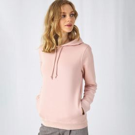 Felpa Organic Hooded 280 gr/m2 Body Fit 80/20 Donna B&C
