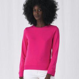 Sweat-shirt organique crew neck neck 280 gr/m2 Body Fit 80/20 Woman B&C