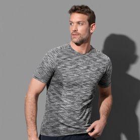 T-Shirt Sport Active Seamless Raglan. Unisex, Tubolare, No Label. Stedman