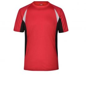T-Shirt Sport Men's Running-T, Unisex. Traspirante, bordini rigrangenti. James & Nicholson