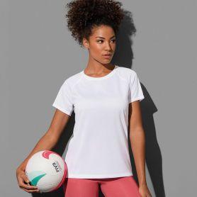 T-shirt Raglan Sport 140. Femme, polyester 100% Active-DRY°. Stedman