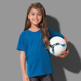 T-Shirt Sport Active 140 Raglan. Bimbo, 100% poliestere Active-DRY°. Stedman