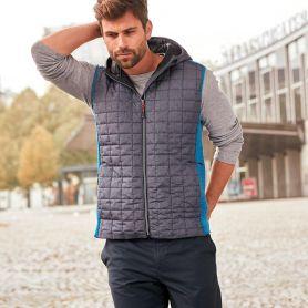 Gilet smanicato Men's Knitted Hybrid Vest, Inisex, James & Nicholson