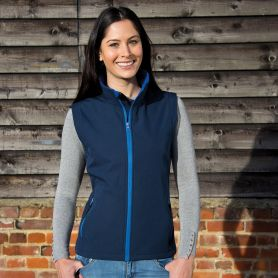 Sleeveless 2-layer softshell vest, micropile. Woman, Result