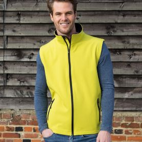 Gilet smanicato in softshell a 2 strati, micropile. Unisex, Result