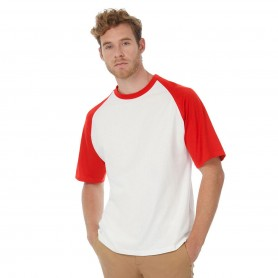 T-Shirt Base-Ball Bicolore Manica Corta B&C