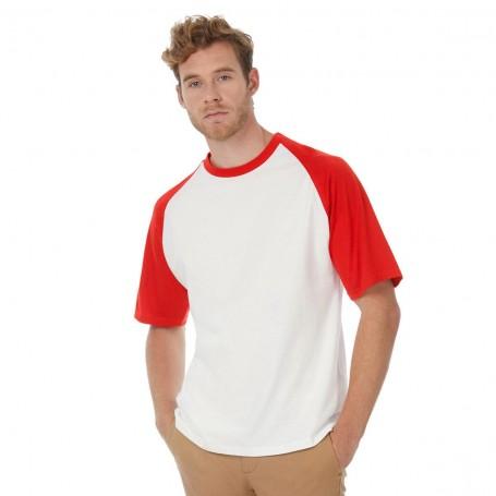 T-Shirt Base-Ball two-tone Short Sleeve B&C