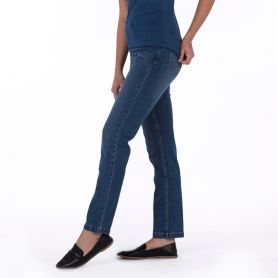 Pantalon en denim Katy Straight Jeans. Ajustement régulier. Femme, So Denim.