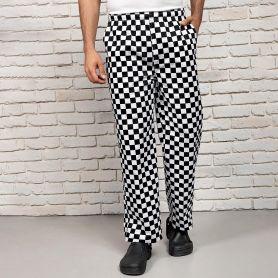 Pantaloni da Chef unisex, elastico in vita. Lavabile a 60°C. Premier