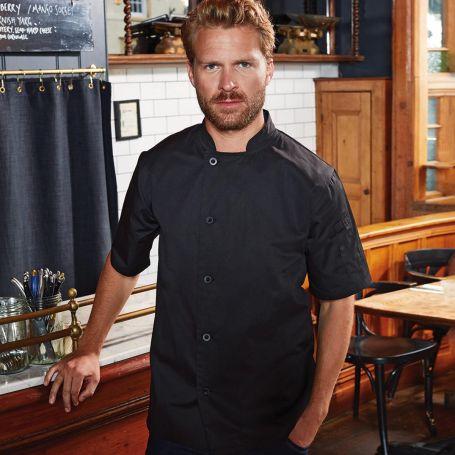 Jacket/Chef's Jacket Essential' Short Sleeve Chef's Jacket. Short sleeve. Unisex. Premier