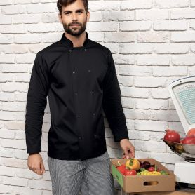 Giacca/Casacca da cuoco Long Sleeve Press Stud Chef's Jacket. Manica lunga. Unisex. Premier