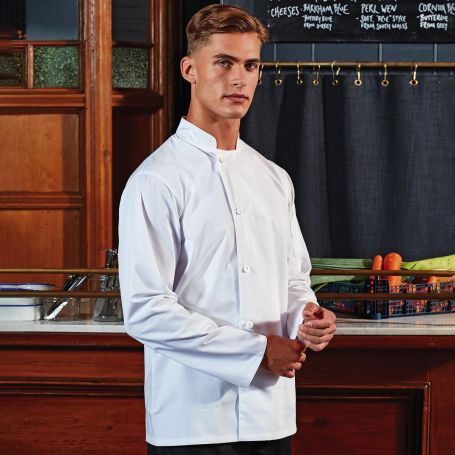 Jacket/Chef's Jacket Essential' Long Sleeve Chef's Jacket. Long sleeve. Unisex. Premier