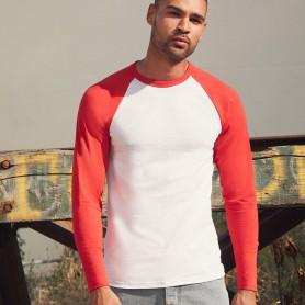 T-Shirt Valueweight Long Sleeve Baseball T Manica Lunga Fruit Of The Loom