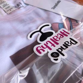 Etichette, Bollini chiudi busta/sacchetto T-Shirt, Felpe. Adesivo in PVC Opaco su misura personalizzate con il tuo logo