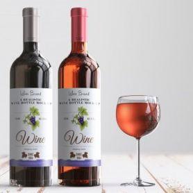 Etichette adesive per Bottiglie di Vino e Birra in PVC Opaco su misura personalizzate con il tuo logo