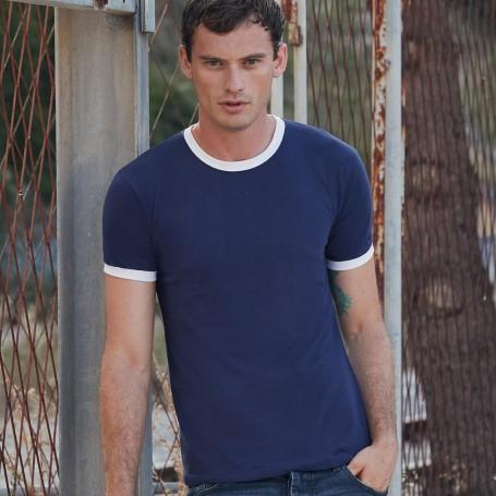T-Shirt Valueweight Ringer T Bicolore Unisex Manica Corta Fruit Of The Loom