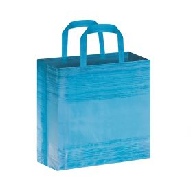 Shopper/Envelope 38 x 42 x 10 cm in stretched effect TNT, with Big Stripes short handles