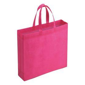 Shopping bag in TNT, 24.5 x 24.5 x 10 cm. Short handles.