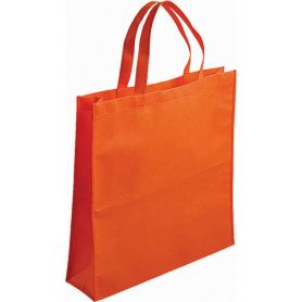 Shopping bag in TNT, 45 x 45 x 14 cm. Short handles.