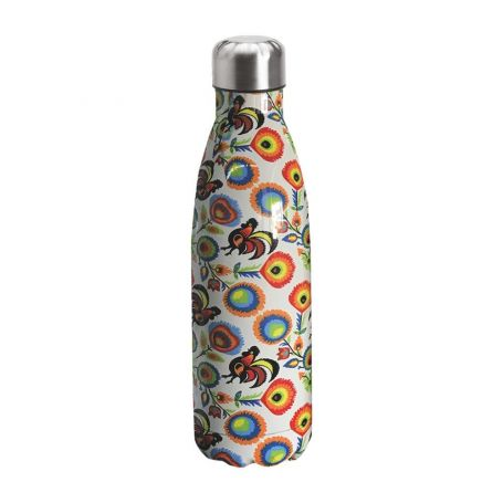 "Water bottle ""Bruin Bear"" 500ml, double wall in stainless steel, thermal. 10"