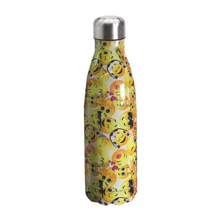 "Water bottle ""Bruin Bear"" 500ml, double wall in stainless steel, thermal. 11"