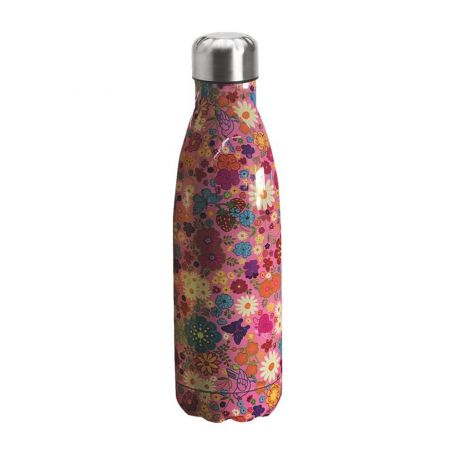"Water bottle ""Bruin Bear"" 500ml, double wall in stainless steel, thermal. 12"