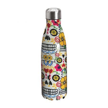 "Water bottle ""Bruin Bear"" 500ml, double wall in stainless steel, thermal. 14"