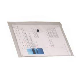 A4 document case with transparent glossy PVC button 33.5 x 24 cm