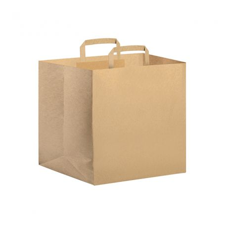 Shopping Bag for Pizza Delivery 36 x 31 x 38 cm in recycled natural paper