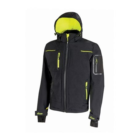 Giacca soft shell SPACE U-Power. Unisex - Black Carbon.