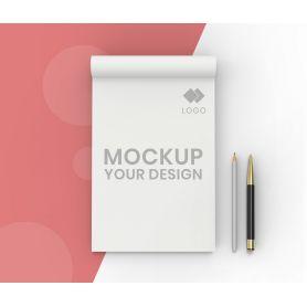 Block Notes A4 incollati in testa, 50 fogli, personalizzati con il tuo logo