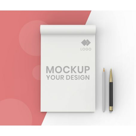 Block Notes A4 glued to the head, 50 sheets, customized with your logo
