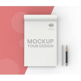 Block Notes A3 incollati in testa, 50 fogli, personalizzati con il tuo logo
