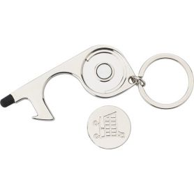 Hygienic metal key chain. Multifunction! Can be used to open doors and press buttons!
