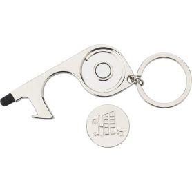 Portachiavi in metallo igienico. Multifunzione! Utilizzabile per aprire le porte e premere pulsanti!