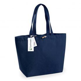 Shopper in premium heavy fabric, 34 x 34 x 17 cm, closure with alamaro. Organic cotton color