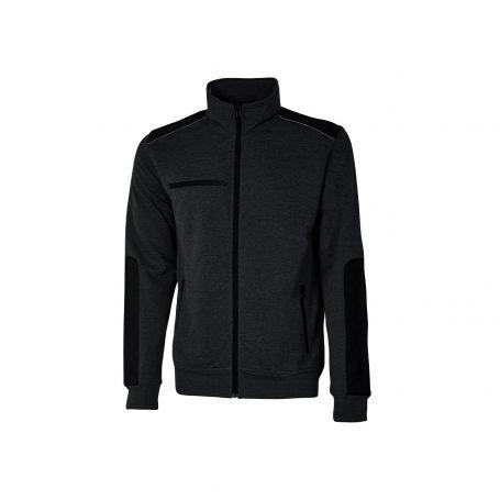 SNUG U-Power full zip sweatshirt. Unisex - BLACK CARBON