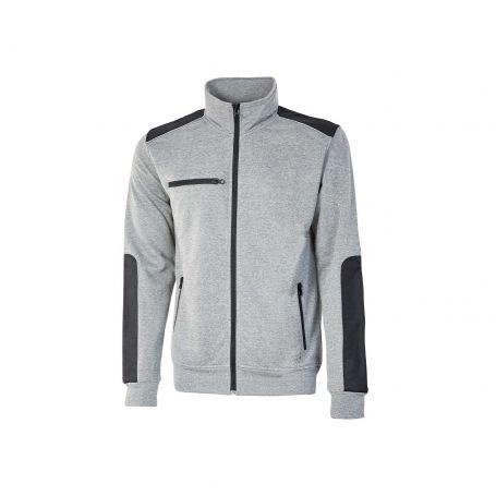 SNUG U-Power full zip sweatshirt. Unisex - GREY SILVER
