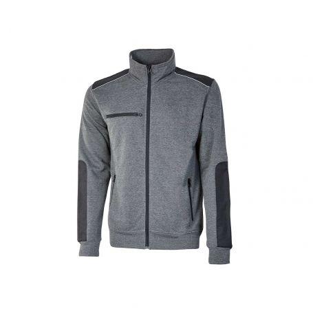 SNUG U-Power full zip sweatshirt. Unisex - GREY METEORITE