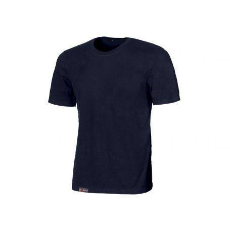T-Shirt basica 100% cotone Linear U-Power. Unisex - DEEP BLUE