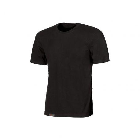 Basic T-Shirt 100% Linear U-Power cotton. Unisex - BLACK CARBON