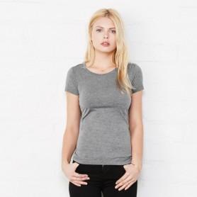 T-Shirt Triblend Manches Courtes Tee Femmes à Manches courtes, Bella + Canvas