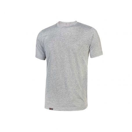 Basic T-Shirt 100% Linear U-Power cotton. Unisex - GREY SILVER