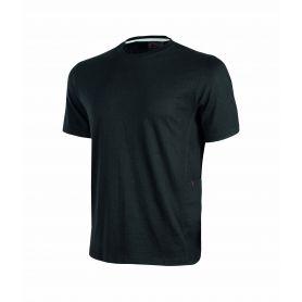 Jersey T-shirt by polycotone Road U-Power. Unisex - BLACK CARBON