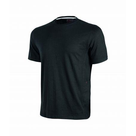 T-Shirt en jersey polycotone Road U-Power. Unisexe - BLACK CARBON