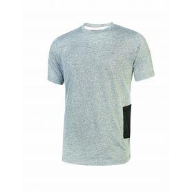 T-Shirt en jersey polycotone Road U-Power. Unisexe - GREY SILVER